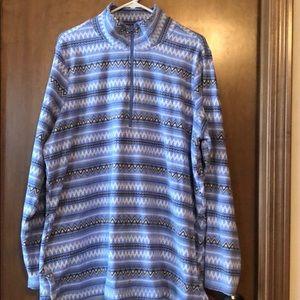 Women's fleece half-zip shirt
